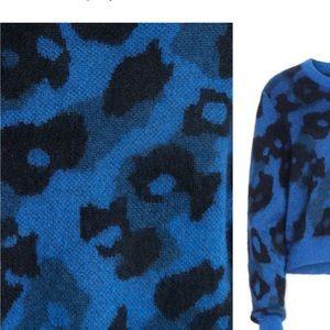 rag & bone Sweaters - rag & bone blue leopard crewneck sweater